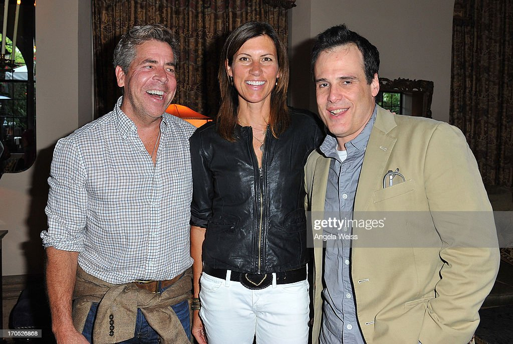 Patrick Wade, Karin Cole and Matt Berman attend Lucky Brand's Measure of Style Dinner at Chateau Marmont on June 13, 2013 in Los Angeles, California.