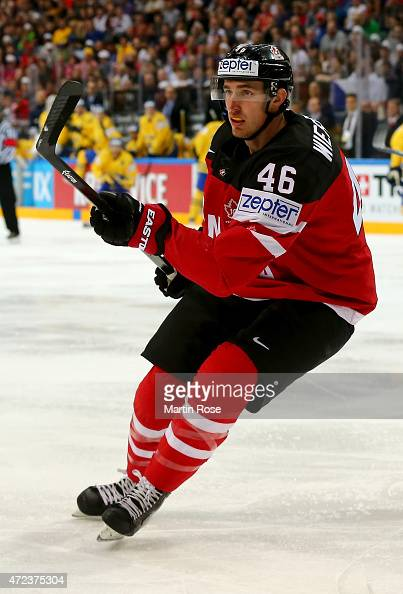 Patrick Wiercioch of Canada skates against Sweden during the IIHF World Championship group A match between Sweden and Canada at o2 Arena on May 6...