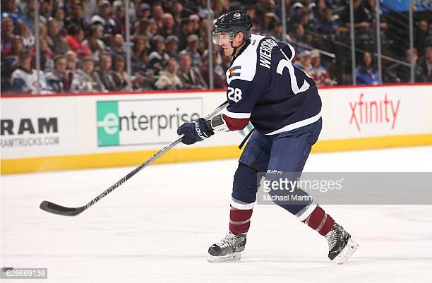 Patrick Wiercioch of the Colorado Avalanche skates against the Vancouver Canucks at the Pepsi Center on November 26 2016 in Denver Colorado