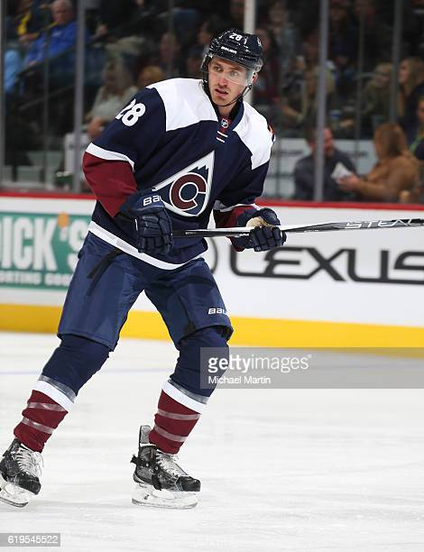 Patrick Wiercioch of the Colorado Avalanche skates against the Winnipeg Jets at the Pepsi Center on October 28 2016 in Denver Colorado 'n