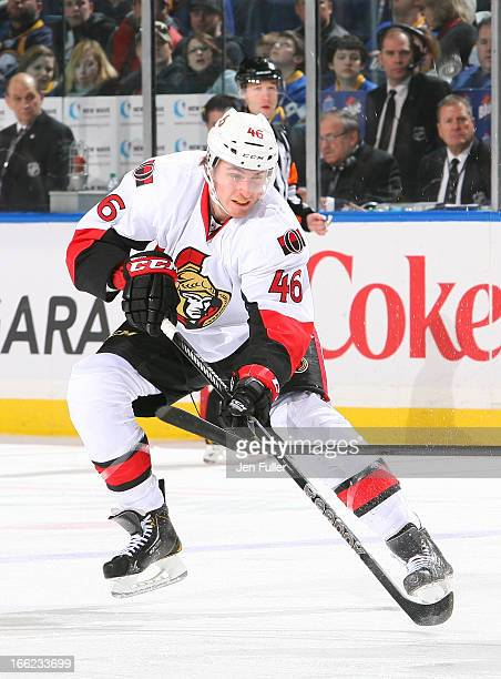 Patrick Wiercioch of the Ottawa Senators skates against the Buffalo Sabres on April 05 2013 at the First Niagara Center in Buffalo New York