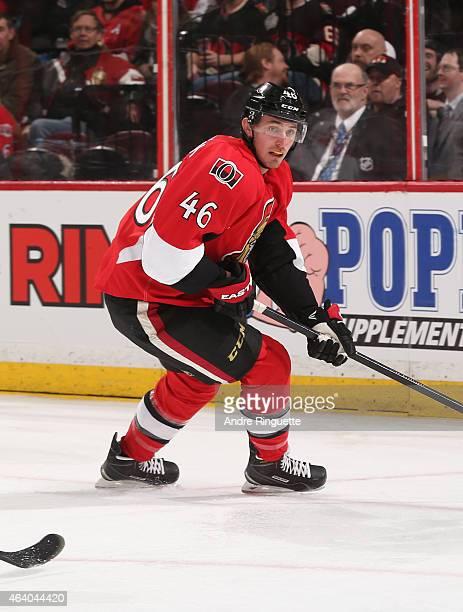 Patrick Wiercioch of the Ottawa Senators skates against the Carolina Hurricanes at Canadian Tire Centre on February 16 2015 in Ottawa Ontario Canada