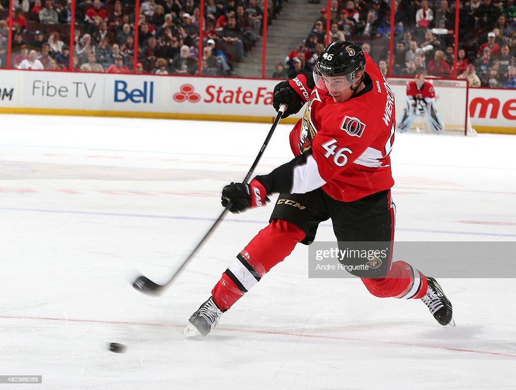 Patrick Wiercioch of the Ottawa Senators skates against the Carolina Hurricanes at Canadian Tire Centre on March 31 2014 in Ottawa Ontario Canada