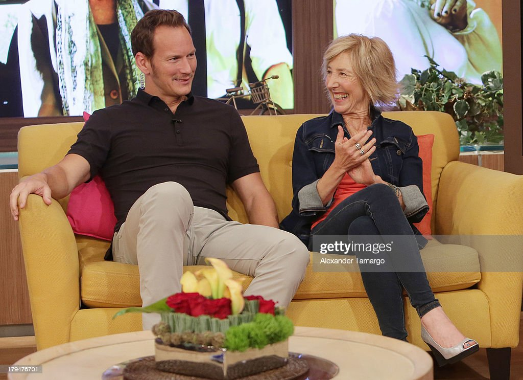 <a gi-track='captionPersonalityLinkClicked' href=/galleries/search?phrase=Patrick+Wilson+-+Actor&family=editorial&specificpeople=14726270 ng-click='$event.stopPropagation()'>Patrick Wilson</a> and <a gi-track='captionPersonalityLinkClicked' href=/galleries/search?phrase=Lin+Shaye&family=editorial&specificpeople=703856 ng-click='$event.stopPropagation()'>Lin Shaye</a> visit Univision's 'Despierta America' at Univision Headquarters on September 4, 2013 in Miami, Florida.