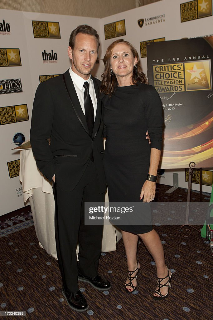 Patrick Wilson and Molly Shannon attend Critics' Choice Television Awards VIP Lounge on June 10, 2013 in Los Angeles, California.