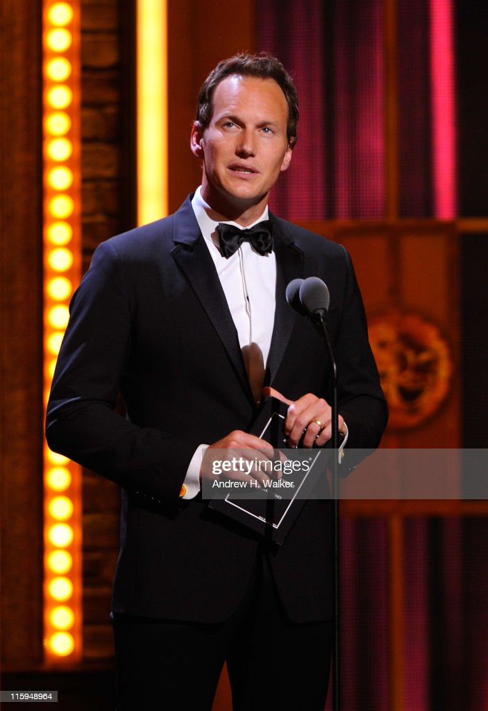 Patrick Wilson speaks on stage during the 65th Annual Tony Awards at the Beacon Theatre on June 12, 2011 in New York City.