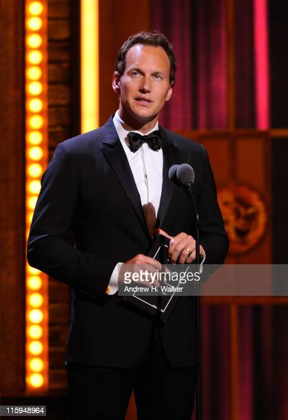 Patrick Wilson speaks on stage during the 65th Annual Tony Awards at the Beacon Theatre on June 12 2011 in New York City