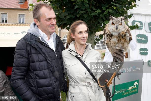 Patrick Winczewski and his wife Kristin Meyer attend the Till Demtroeders CharityEvent 'Usedom Cross Country' at Schloss Stolpe on September 9 2017...