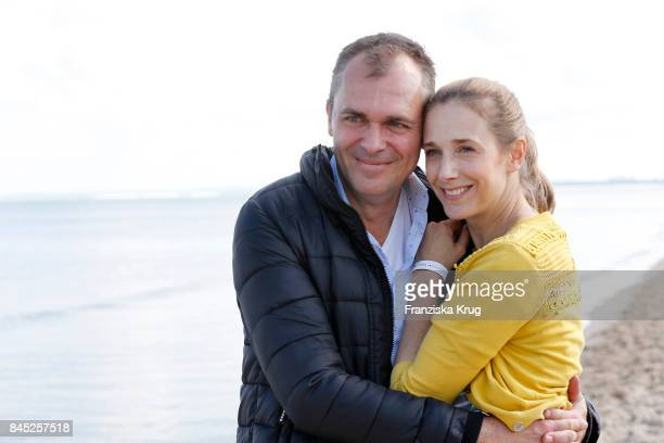 Patrick Winczewski and his wife Kristin Meyer attend the Till Demtroeders CharityEvent 'Usedom Cross Country' at Seebruecke Ahlbeck on September 10...