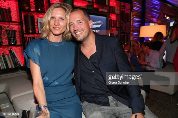 MUNICH GERMANY JUNE 26 Patrick Wolff and his girlfriend Kathrin Seitz during the Movie meets Media Party during the Munich Film Festival on June 26...