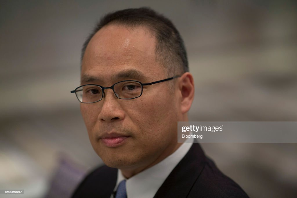 Patrick Yeung, chief executive officer of Hong Kong Dragon Airlines Ltd. (Dragonair), attends a media briefing in Hong Kong, China, on Thursday, Jan. 24, 2013. Dragonair is to upgrade cabins and add new destinations this year. Photographer: Jerome Favre/Bloomberg via Getty Images