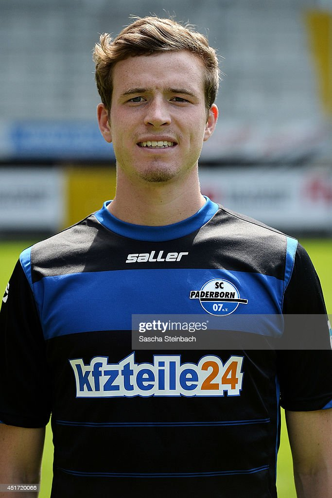 Patrick Ziegler poses during SC Paderborn 07 team presentation at Benteler-Arena on July 4, 2014 in Paderborn, Germany.