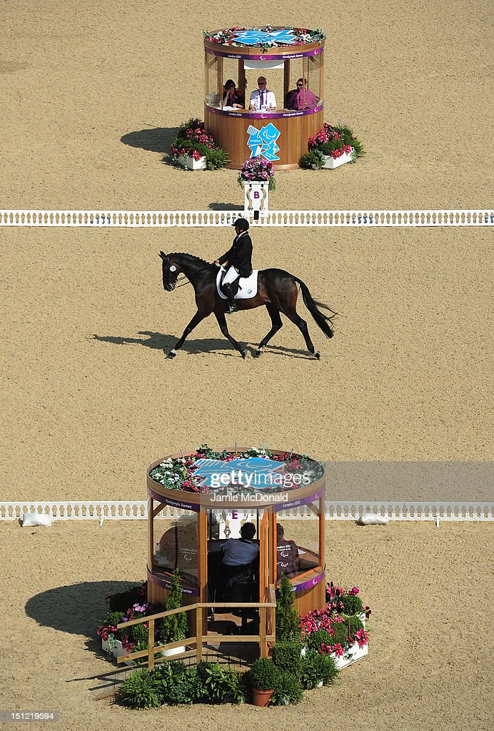 Patrico Guglialmelli Lynch of Argentina rides Nirvana Pure Indulgence during the Equestrian Dressage Individual Freestyle Test - Grade III on day 6 of the London 2012 Paralympic Games at Greenwich Park on September 4, 2012 in London, England.