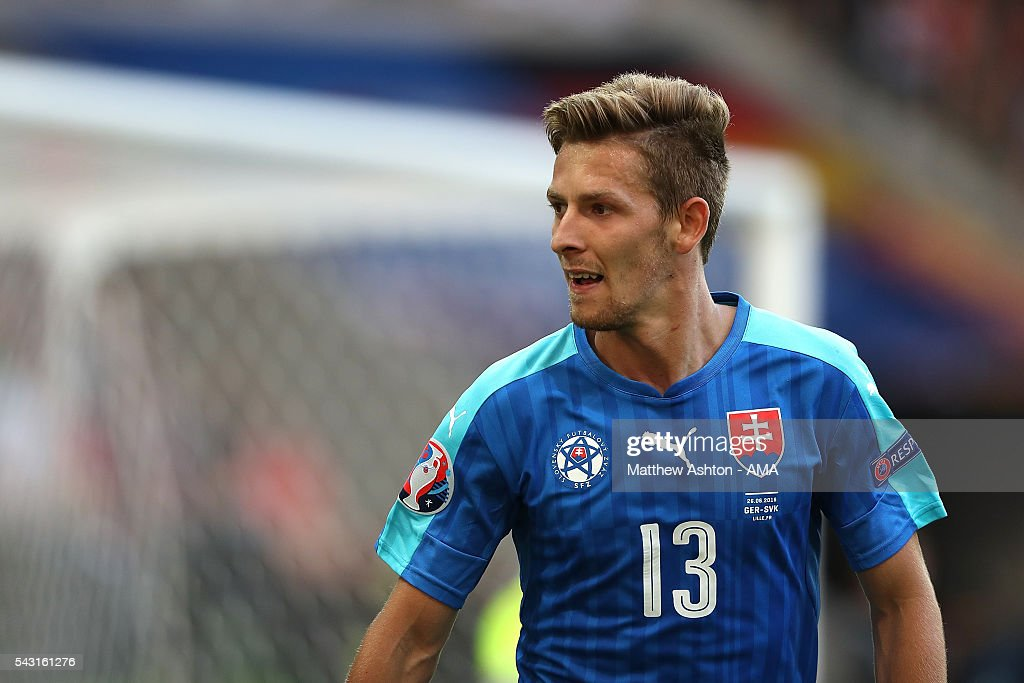 Patrik Hrosovsky of Slovakia looks on during the UEFA Euro 2016 Round of 16 match between Germany and Slovakia at Stade Pierre-Mauroy on June 26, 2016 in Lille, France.