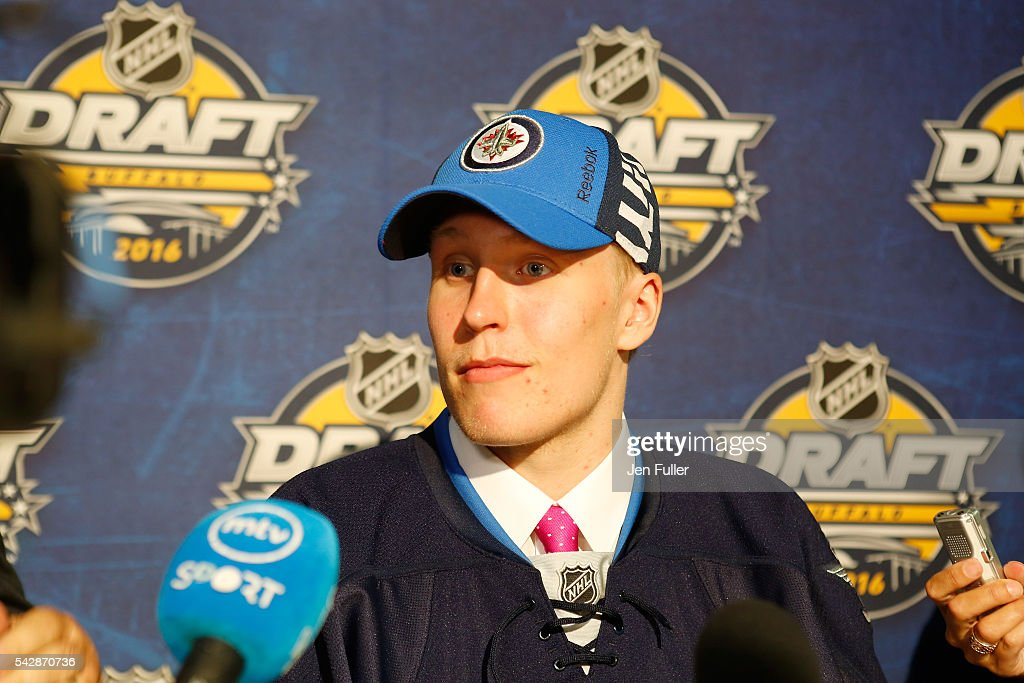 <a gi-track='captionPersonalityLinkClicked' href=/galleries/search?phrase=Patrik+Laine&family=editorial&specificpeople=13600427 ng-click='$event.stopPropagation()'>Patrik Laine</a> gives an interview after being selected second by the Winnepeg Jets during round one of the 2016 NHL Draft on June 24, 2016 in Buffalo, New York.