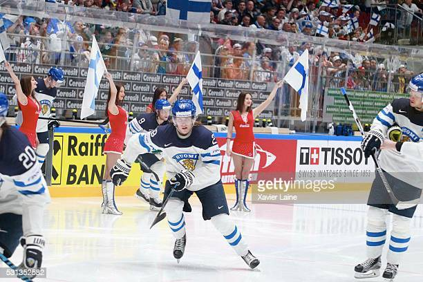 Patrik Laine of Finland before the 2016 IIHF World Championship between France and Finland at Yubileyny Sports Palace on May 14 2016 in Saint...