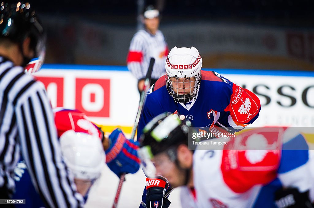 Patrik Laine of Tappara Tampere during the Champions Hockey League group stage game between Tappara Tampere and EV Zug on September 6 2015 in Tampere...