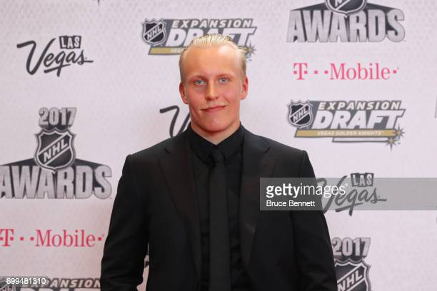Patrik Laine of the Winnipeg Jets attends the 2017 NHL Awards at TMobile Arena on June 21 2017 in Las Vegas Nevada