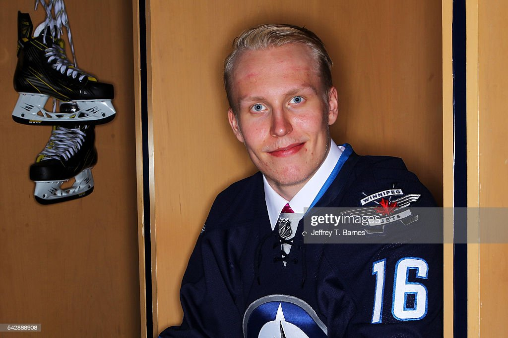 <a gi-track='captionPersonalityLinkClicked' href=/galleries/search?phrase=Patrik+Laine&family=editorial&specificpeople=13600427 ng-click='$event.stopPropagation()'>Patrik Laine</a> poses for a portrait after being selected second overall by the Winnepeg Jets in round one during the 2016 NHL Draft on June 24, 2016 in Buffalo, New York.