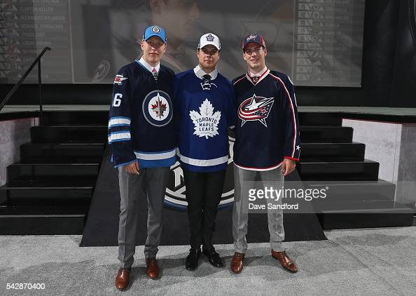Patrik Laine selected second overall by the Winnipeg Jets Auston Matthews selected first overall by the Toronto Maple Leafs and PierreLuc Dubois...