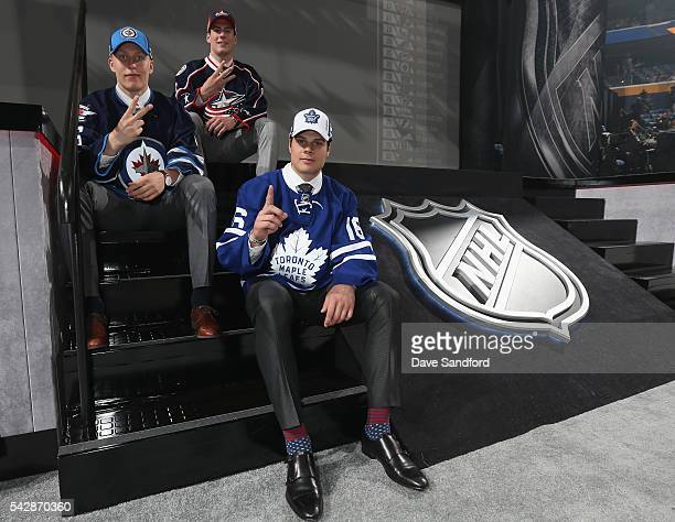 Patrik Laine selected second overall by the Winnipeg Jets PierreLuc Dubois selected third overall by the Columbus Blue Jackets and Auston Matthews...