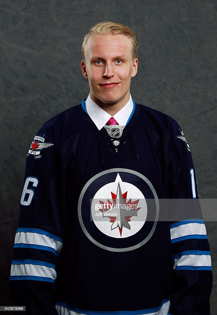Patrik Laine, selected second overall by the Winnipeg Jets, poses for a portrait during round one of the 2016 NHL Draft at First Niagara Center on June 24, 2016 in Buffalo, New York.