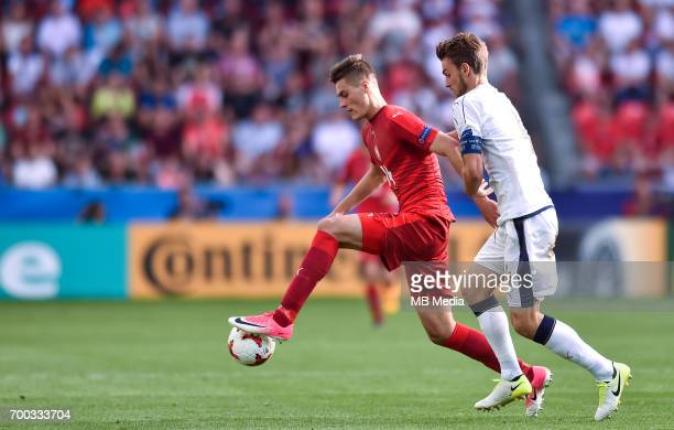 Patrik Schick Daniele Rugani during the UEFA European Under21 match between Czech Republic and Italy on June 21 2017 in Tychy Poland