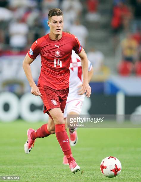 Patrik Schick during the UEFA European Under21 match between Czech Republic and Denmark at Arena Tychy on June 24 2017 in Tychy Poland