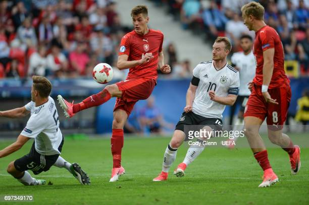 Patrik Schick of Czech Republic during their UEFA European Under21 Championship match on June 18 2017 in Tychy Poland