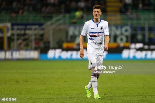 Patrik Schick of Uc Sampdoria during the Serie A match between FC Internazionale and Uc Sampdoria UC Sampdoria wins 21 over Internazionale Fc