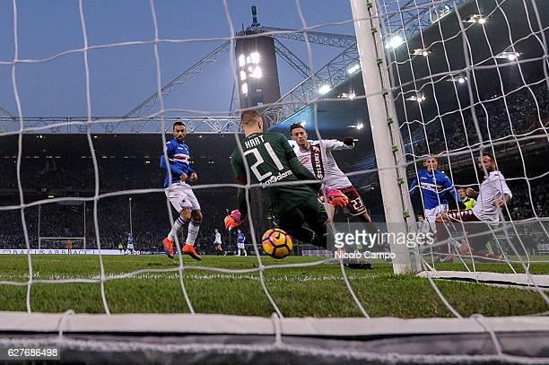 Patrik Schick of UC Sampdoria scores a goal during the Serie A football match between UC Sampdoria and Torino FC UC Sampdoria won 20 over Torino FC