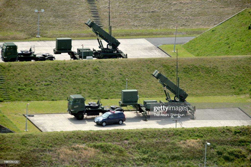 PAC-3, Patriot Advanced Capability-3 missiles are deployed at Japan Air Self-Defense Force Takeyama Base on April 9, 2013 in Yokosuka, Kanagawa, Japan. Japan prepares for North Korea's possible missile launch.