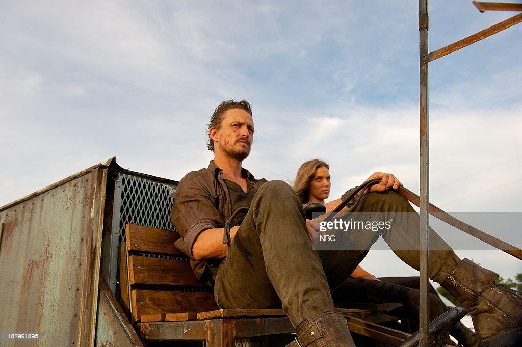 REVOLUTION 'Patriot Games' Episode 204 Pictured David Lyons as Gen Sebastian Monroe Tracy Spiridakos as Charlie Matheson