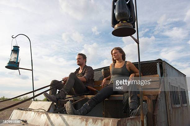 REVOLUTION 'Patriot Games' Episode 204 Pictured David Lyons as Gen Sebastian Monroe Tracy Spiridakos as Charlie Matheson