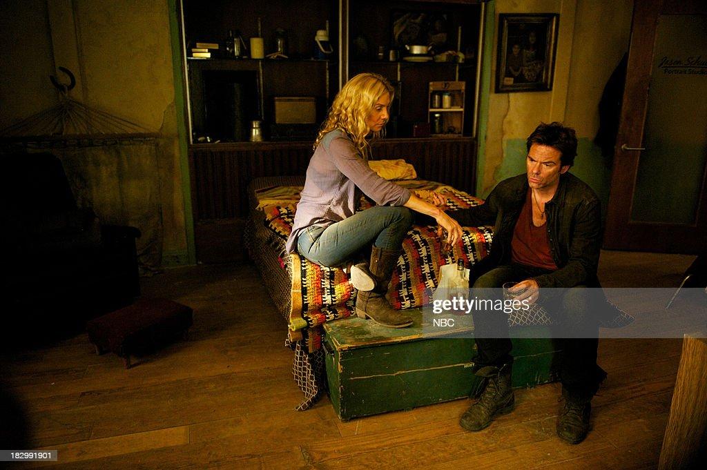 REVOLUTION -- 'Patriot Games' Episode 204 -- Pictured: (l-r) Elizabeth Mitchell as Rachel Matheson, Billy Burke as Miles Matheson --