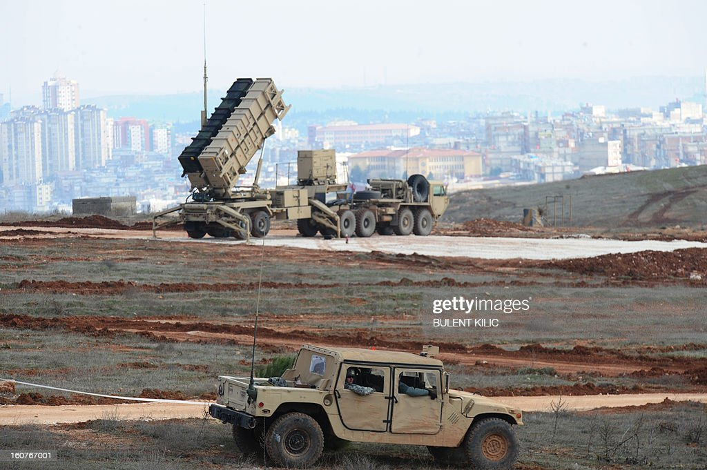 A Patriot missile launcher system is pictured at a Turkish military base in Gaziantep on February 5 2013 The United States Germany and the...