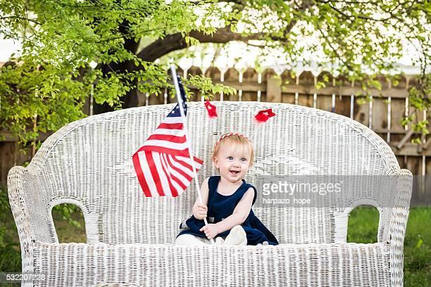 Patriotic baby girl.