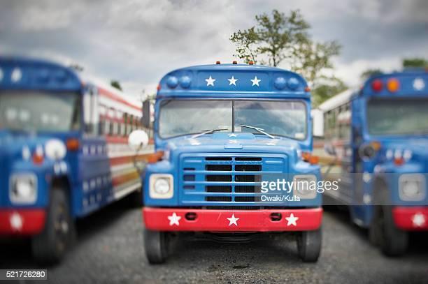 Patriotic Buses