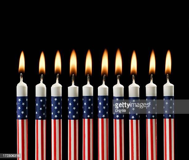 Des bougies patriotique