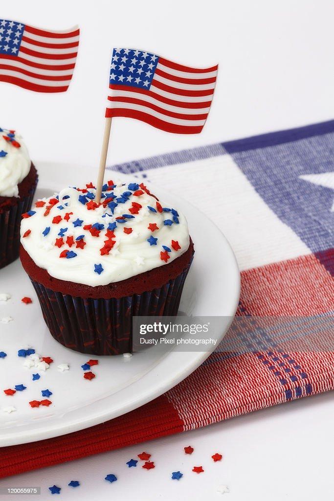 Patriotic cupcakes : Stock Photo