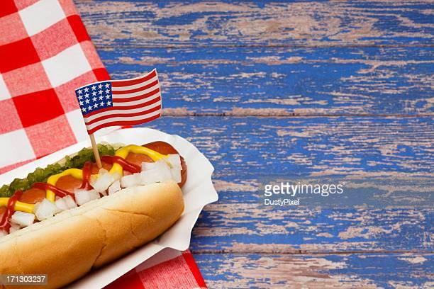 Patriótica estadounidense Hotdog