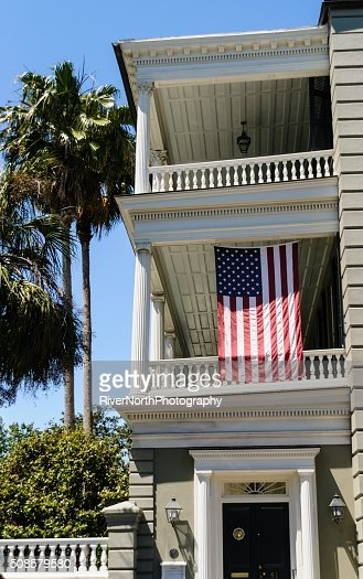 Patriotic House, Charleston : Stock Photo