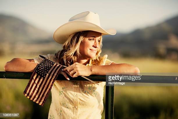 Patriotic Western Girl
