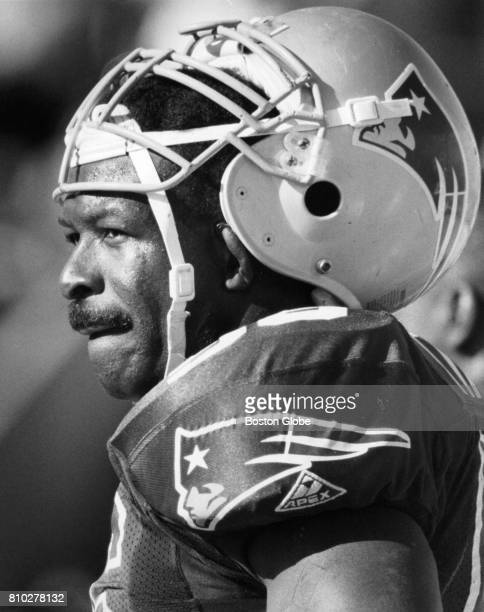 Patriots' Andre Tippett rests on the sideline during the fourth quarter of a game against the Seahawks in Foxborough Mass Sept 19 1993
