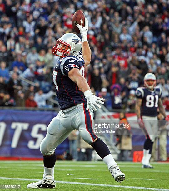 Patriots tight end Rob Gronkowski spikes the ball following a touchdown his final score of the regular season The New England Patriots hosted the...