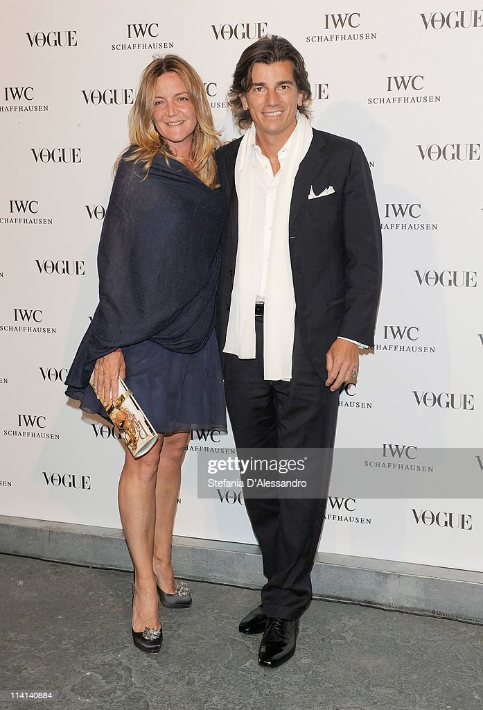 Patrizia D'Asburgo (L) and her husband Dimitri Kunz D'Asburgo attend Vogue and IWC present 'Peter Lindbergh's Portofino' at 10 Corso Como on May 12, 2011 in Milan, Italy.