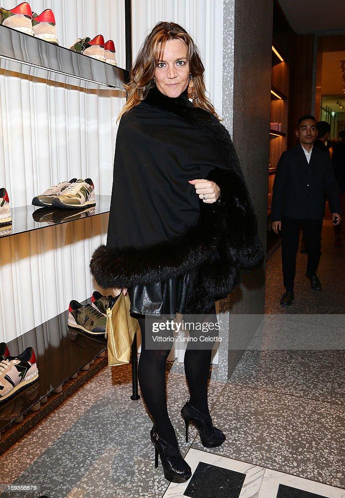 Patrizia D'Asburgo Lorena attends Valentino Cocktail Party as part of Milan Fashion Week Menswear Autumn/Winter 2013 on January 12, 2013 in Milan, Italy.