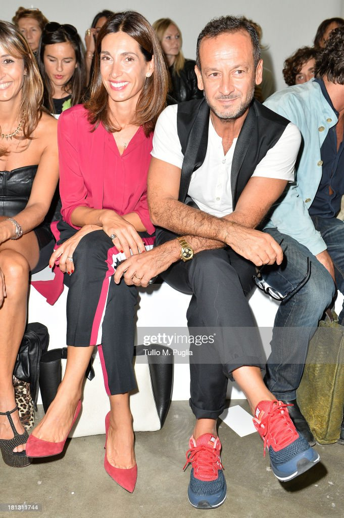 Patrizia Gerani and Paolo Gerani attend the Iceberg show as a part of Milan Fashion Week Womenswear Spring/Summer 2014 on September 20, 2013 in Milan, Italy.