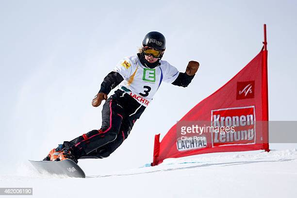Patrizia Kummer of Switzerland competes in the Women's Parallel Giant Slalom Finals during the FIS Freestyle Ski and Snowboard World Championships...