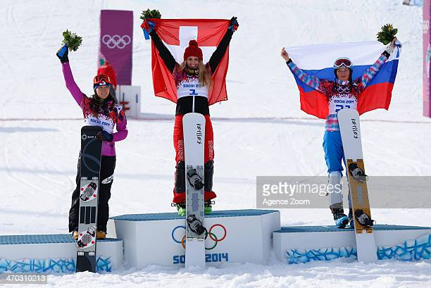Patrizia Kummer of Switzerland wins the gold medal Tomoka Takeuchi of Japan wins the silver medal Alena Zavarzina of Russia wins the bronze medal...